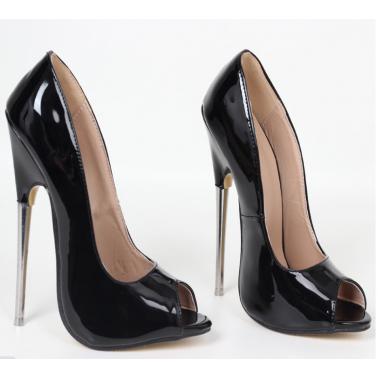 Gorgeous unisex metal heel leather pumps 35-46 EU