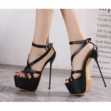 "Szpilki sandały ultra cienki obcas ""metal heel"" 35-40 EU"
