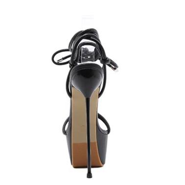 """Wyzywające szpilki sandały obcas """"metal heel"""" 35-40 EU"""