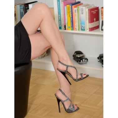 Suede fetish unisex high heels  sandals 35-46 EU