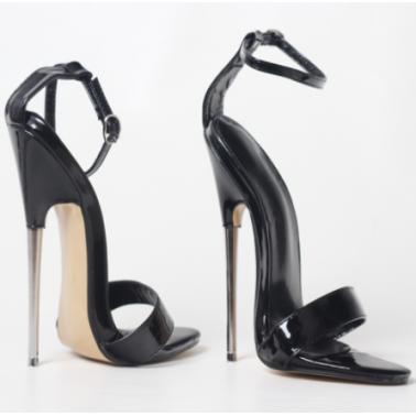 Sky high metal heel Trans Crossdress sandals fetish 36-46 EU