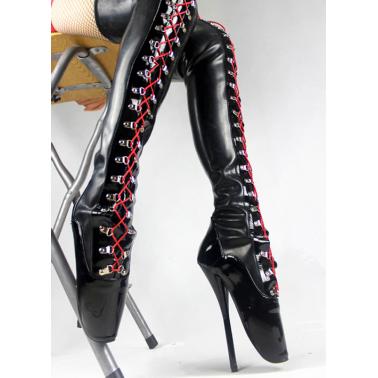 Dual colour ballet boots Trans Crossdress 35-45 EU