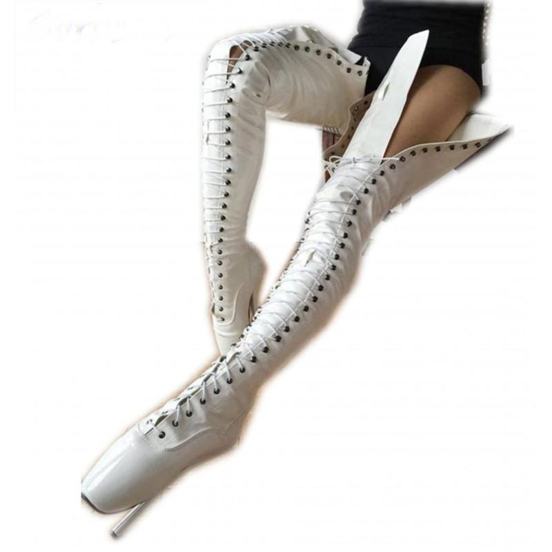 Wysokie ekstremalne baletki kozaki Trans Crossdress 35-46 EU