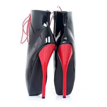 Unisex baletki botki w kostkę fetysz BDSM 35-46 EU