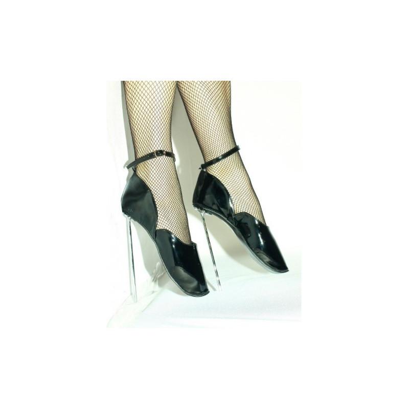 Metal heel unisex fetish ballet shoes ankle straps 36-47 EU
