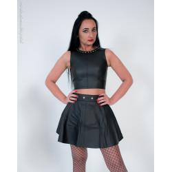"Skórzana plisowana spódnica mini BDSM ""Miranda"""