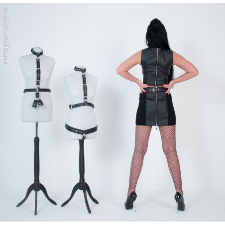 "Leather briefs open back fetish ""Devotion"""