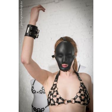 """Leather bikini top small rings fetish BDSM """"Fetish Sunrise"""""""