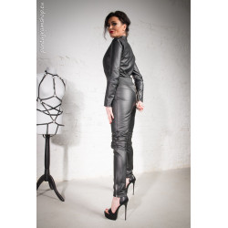 "Leather unisex catsuit BDSM ""Verona"""