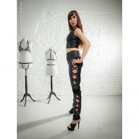 "Leggings tube pants cross pattern ""Xtravaganza"""