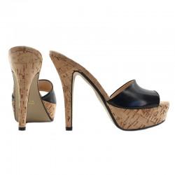 Classic open toe Italian mules