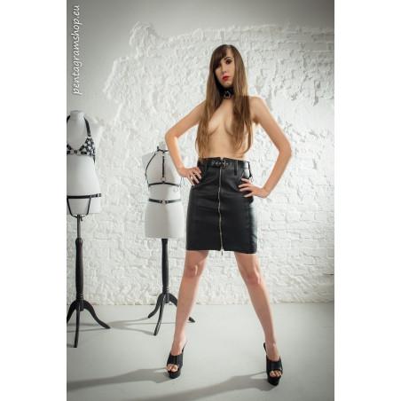 "Midi skirt satine pattern ""Satine Domme"""