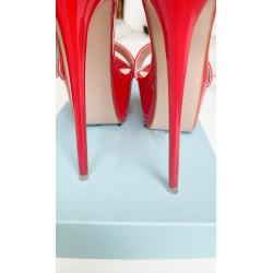 Luxury red sky high Italian mules 35-44 EU