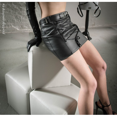 "Mini skirt satine tie fetish ""Sexy satine"""