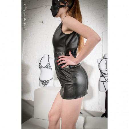 "Leather dress unisex fetish BDSM ""Black Mistress"""