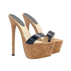 Provokative Holzkork Italienishe Fetisch Schuhe
