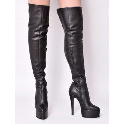 أحذية جلدية سوداء