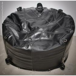 """Skórzana pufa fotel fetysz siedzisko BDSM """"Black Throne"""