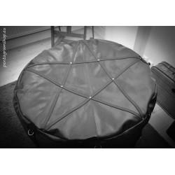 "Leather pouf seat fetish BDSM ""Black Throne"""