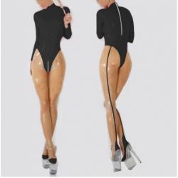 Kombinezon lateks catsuit unisex sissy z pończochami fetysz BDSM