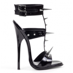 Fetish unisex open toe and back heels sandals 35-46 EU