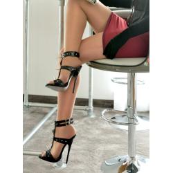 Wysokie fetyszowe sandały z ćwiekami 35-46 EU