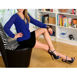 Black and blue high heels fetish 35-46 EU