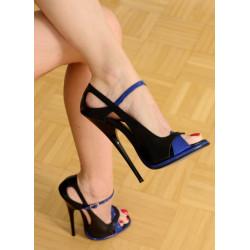 Czarno niebieskie sandały fetysz 35-46 EU