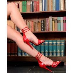 Wyzywające skórzane sandały paski 35-46 EU