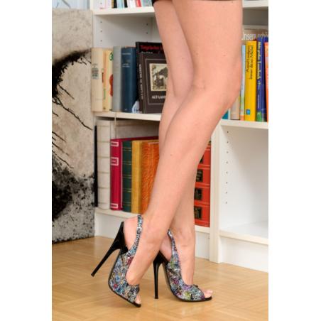"Leopard heels ""peep toe"""