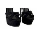 حذاء أسود إيطالي كعب عالي