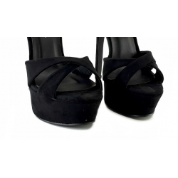 Luxury sky high suede Italian sandals 35-40 EU