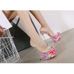 Seductive fetish female multi color sandals gogo 35-40 EU