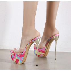 "Seksowne klapki szpilki obcas ""metal heel"" 35-40 EU"