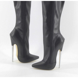 Fetish Metal Heel Boots Trans Crossdress 36-46 EU