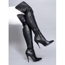 Italian leather fetish boots classic style 35-47 EU