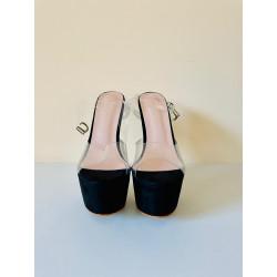 Fetish female sandals gold high heels 35-40 EU