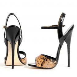 Seductive snake pattern unisex very high heels 35-46 EU