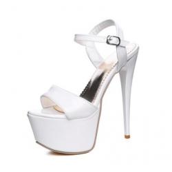 Lack leather fetish unisex gogo sandals heels 34-48 EU