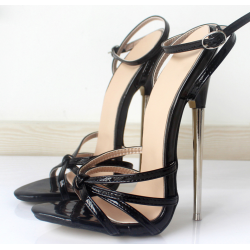 "Black fetish high sandals Giaro ""Chloe"""