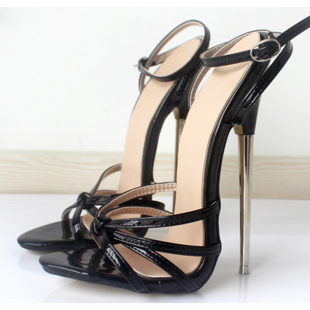"Black fetish unisex sandals Giaro ""Chloe"""