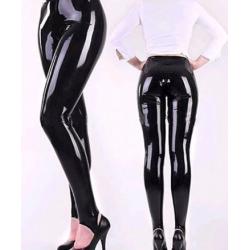 Fetisch Latexhose Leggings mit Streifen