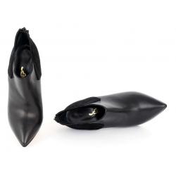 Włoskie wysokie botki fetysz klasyczny szpic 35-46 EU