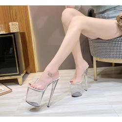 Szklanki sandały szpilki gogo różne wysokości 35-43 EU