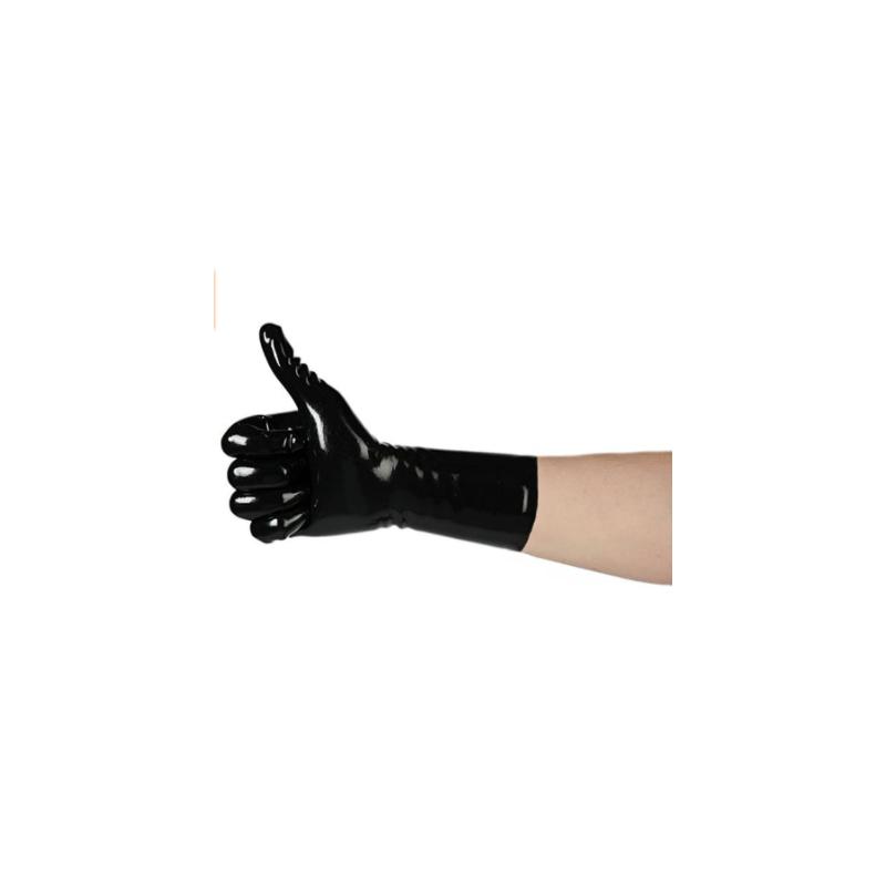 Lateks unisex rękawiczki krótkie z palcami fetysz BDSM