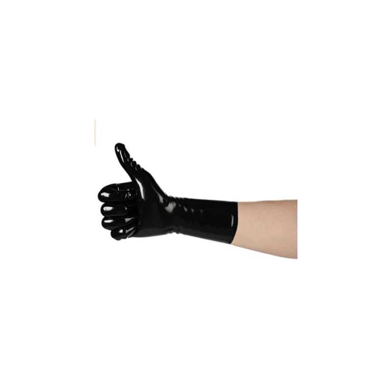 Unisex latex gloves short fetish BDSM