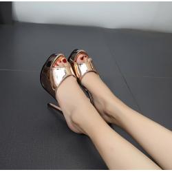Mettalic-Farbe hohe sexy Schuhe 35-40 EU