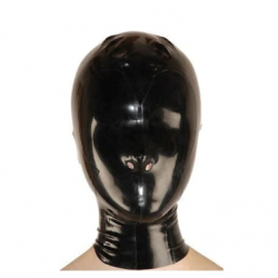 Pełna lateksowa maska dziurki nos fetysz BDSM