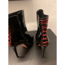 Back red lacing Trans Crossdress ankle boots 35-46 EU
