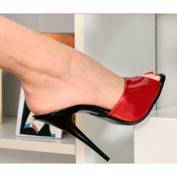 Gorgeous red and black delicate mules 35-46 EU